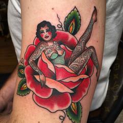 tattooed pin up tattoo