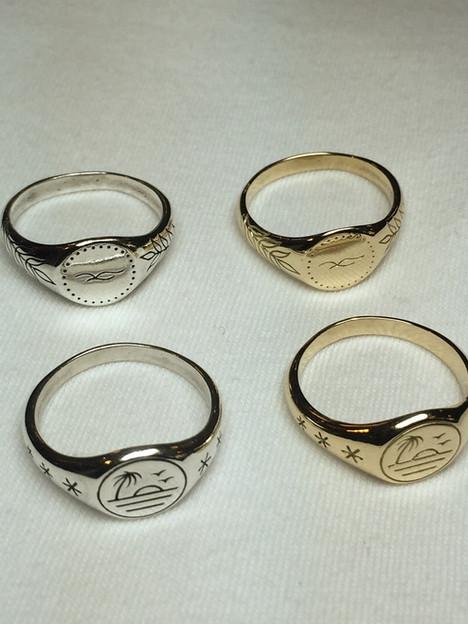 Handcarved rings by Jenna Bouma