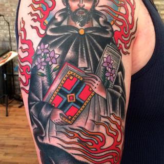 Color Saint tattoo