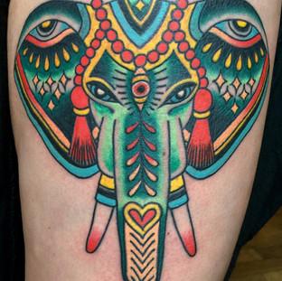 Pattern Elephant Tattoo