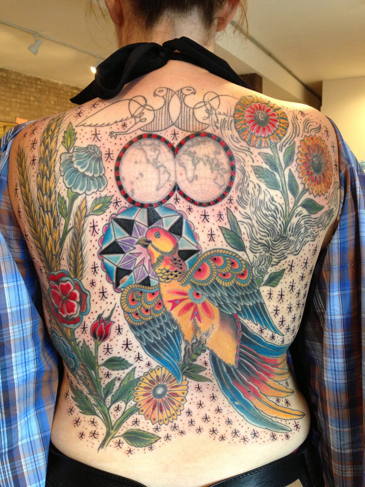 Colorful Backpiece