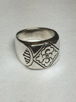 Handmade signet ring by SlowerBlack