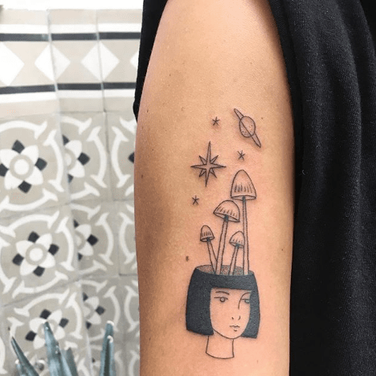 Female portrait tattoo by Christian