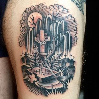 Desert cactus tatoo