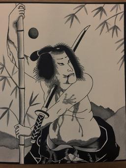 Samurai Painting by Slower Black