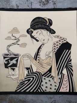 SlowerBlack Japanese painting