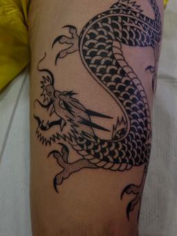 Japanese Dragon arm tattoo