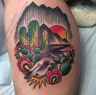 Color Cactus Tattoo