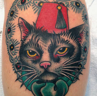 Pasha cat tattoo