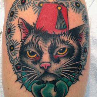 Pasha cat tattoo