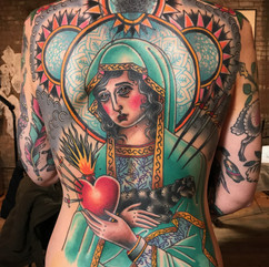 full back piece in color