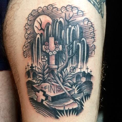 Cactus desert tattoo