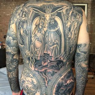 Religious back piece