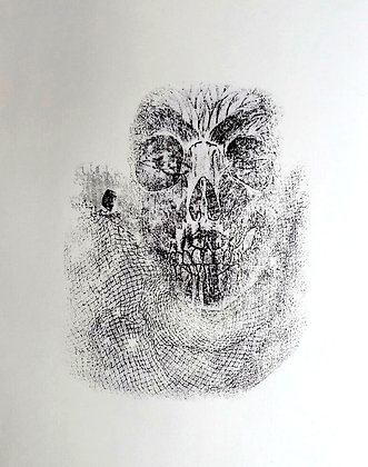 Skull with Net - SOLD