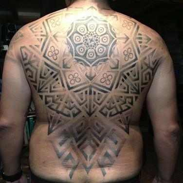 Symbol Mandala full backpiece