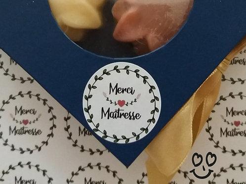 "Petit coffret cadeau ""Merci Maîtresse"""