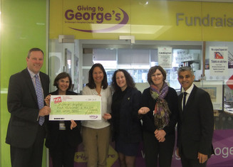 BIG cheque presented to St George's