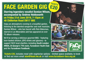 Damian Wilson at FACE's Charity Garden Gig!