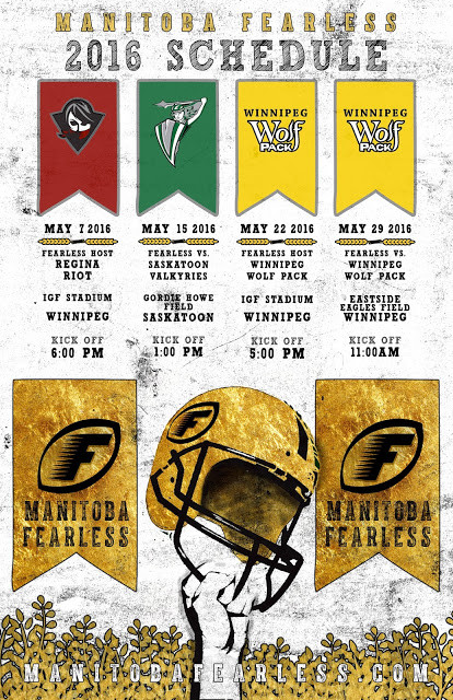 Manitoba Fearless 2016 Schedule