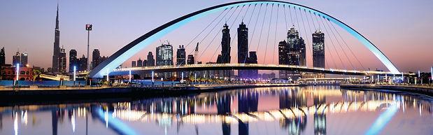 Dubai skyline display shutterstock_78101