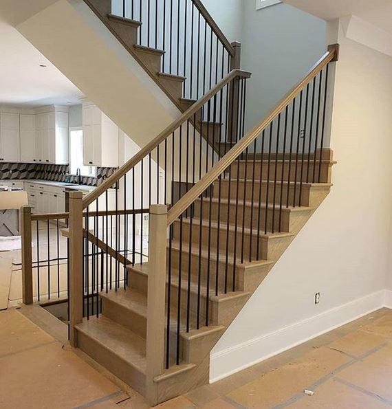 custom rod iron staircase