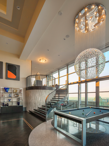 Penthouse staircase Chase Park Plaza