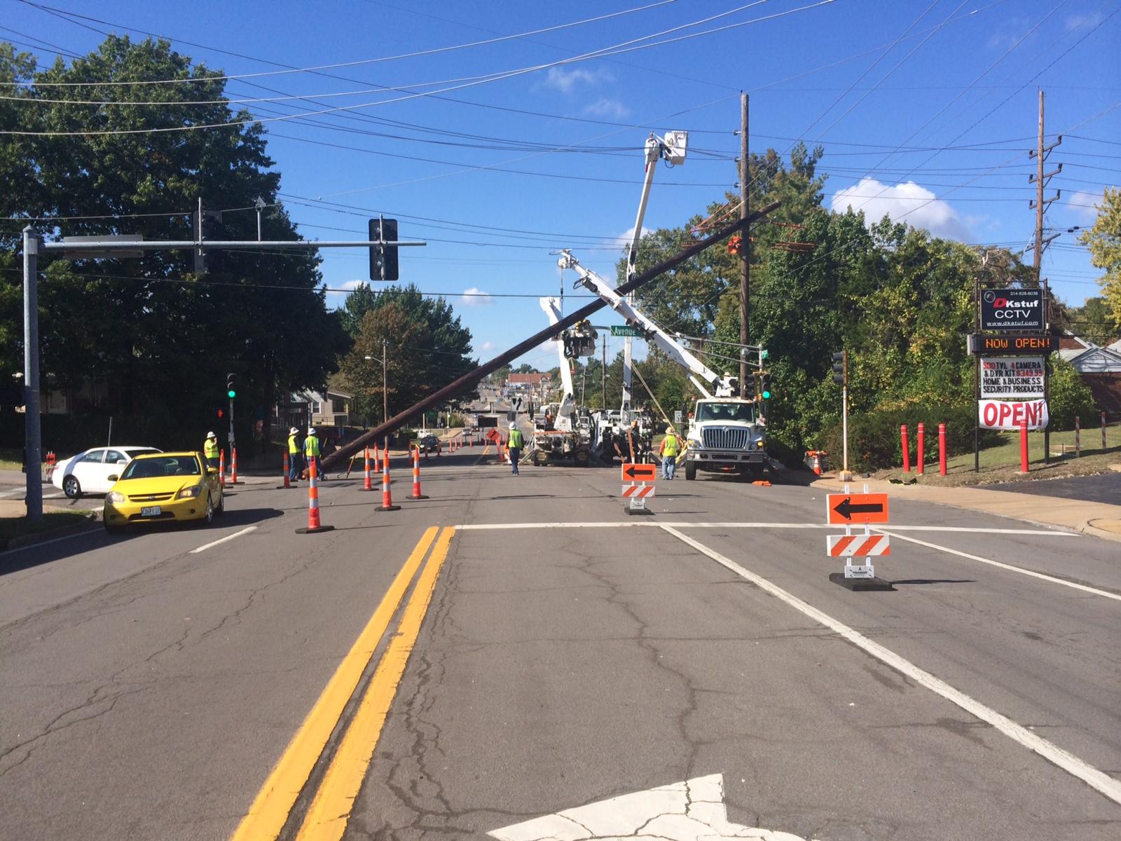 Utility Work traffic