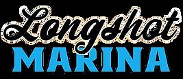 Light Blue Longshot Marina Logo words on