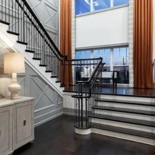 rod iron railing staircase