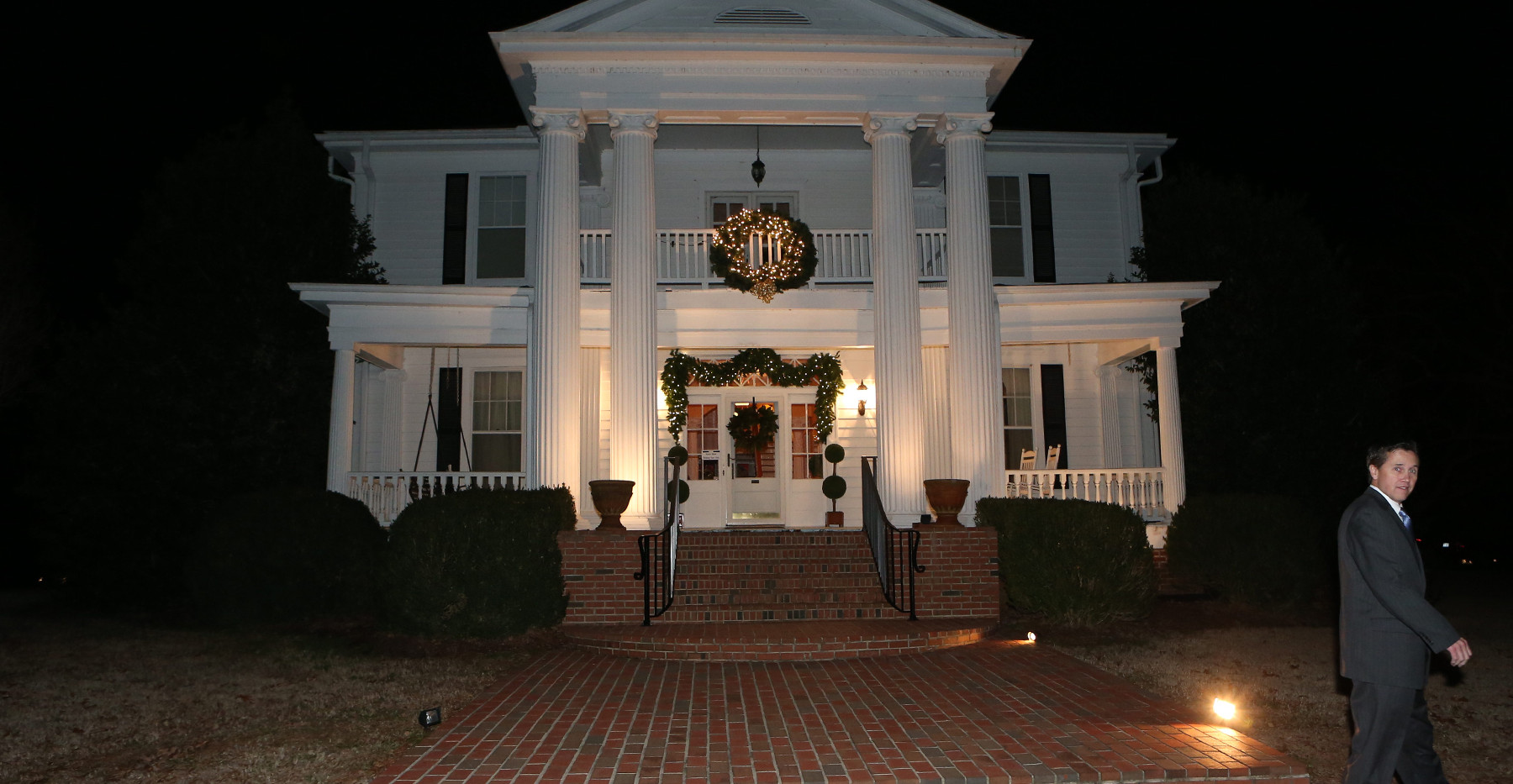 Christmas Manor House
