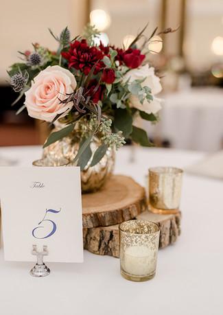 Ballroom guest table