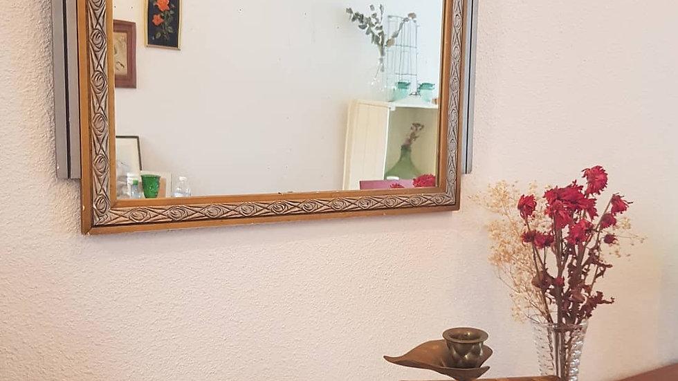 Miroir art déco or et argent