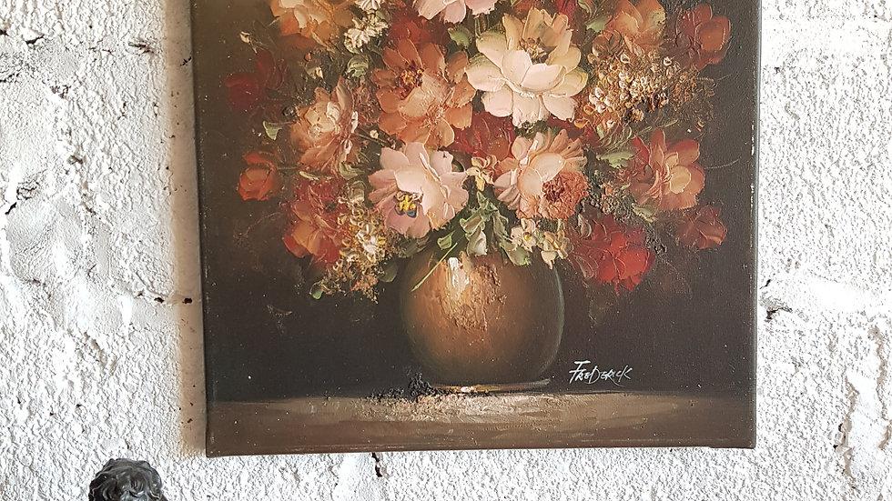 REF 001Bouquet - huile sur toile signée