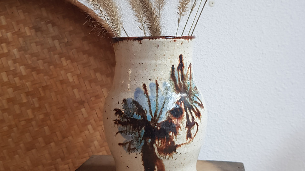 Vase grès vernis