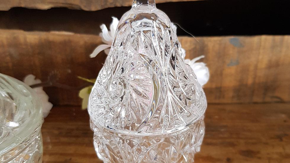 Bonbonniere cristal forme poire