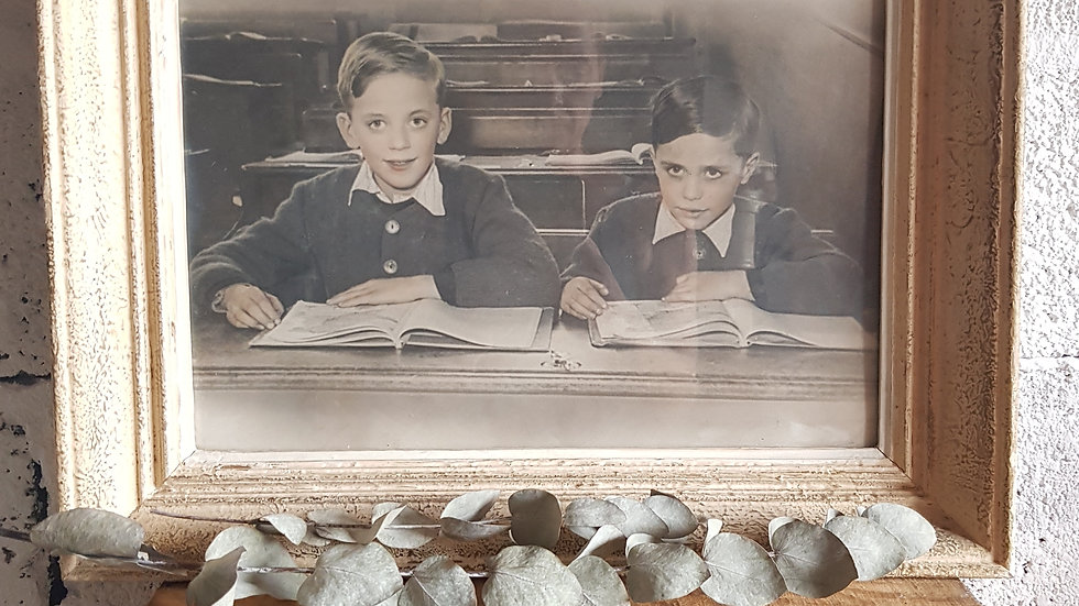 Les garçons studieux - photo ancienne