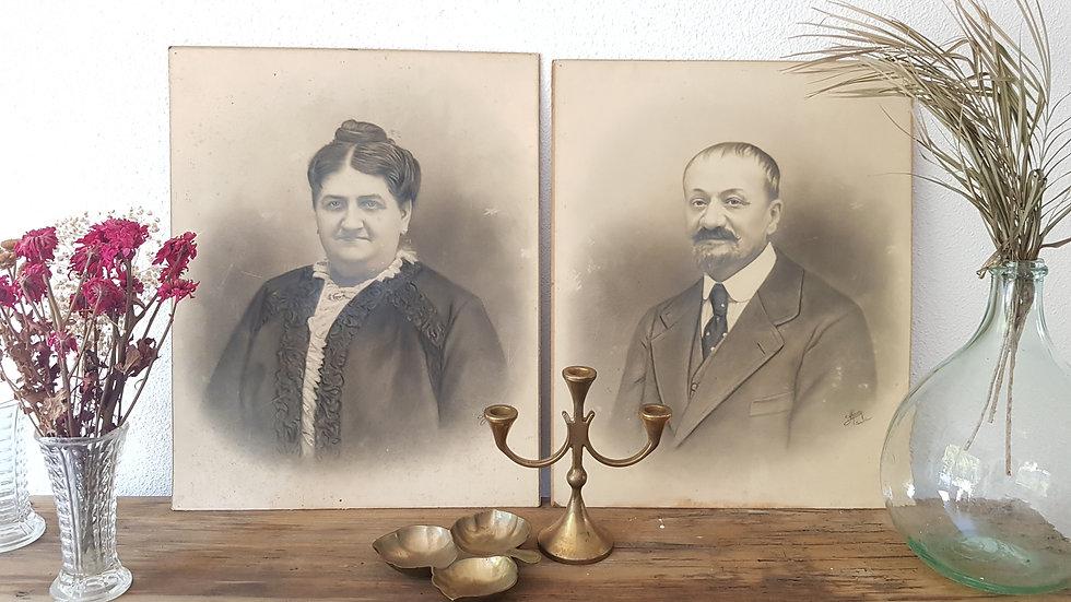 Photo ancienne - Le couple