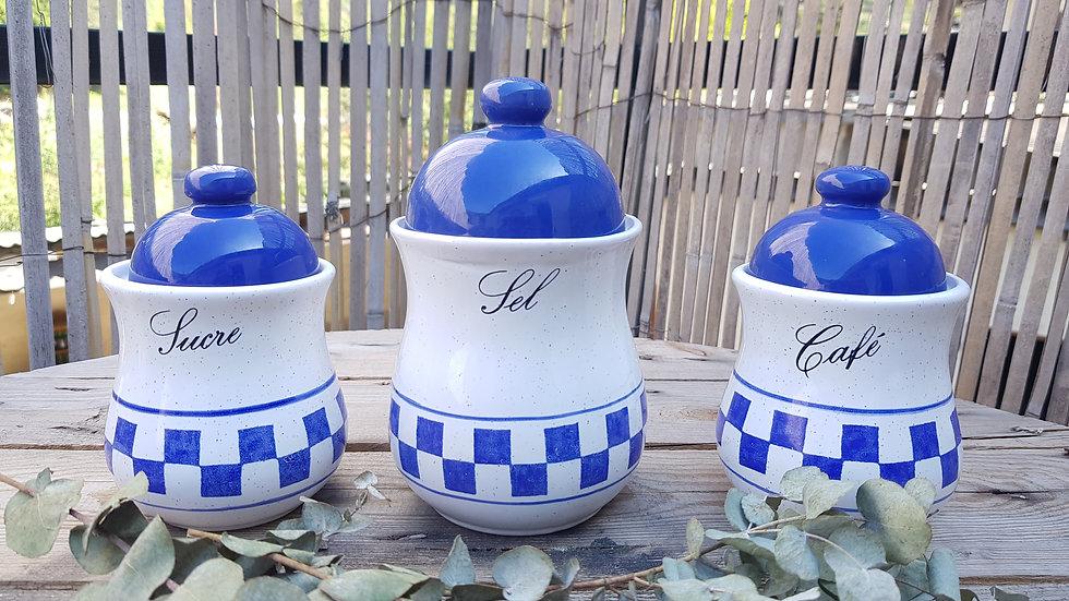 Trio de pots vintage