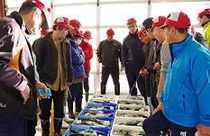 五島の魚市場風景