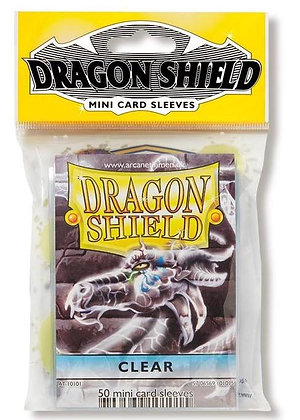 Clear Small Deck Protector Sleeves 50-Pack (Dragon Shield)