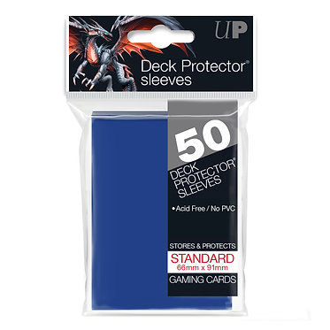 Blue Standard Deck Protector Sleeves 50-Pack (Ultra Pro)