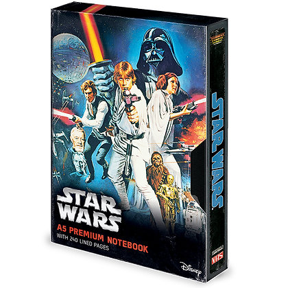 Star Wars: A New Hope VHS A5 Notebook