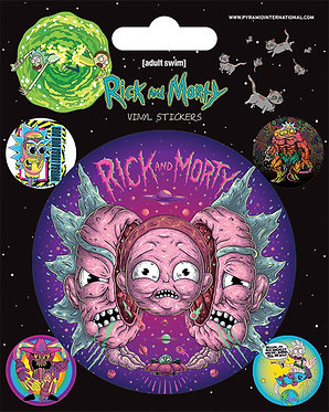 Rick & Morty (Psychedelic) Vinyl Stickers