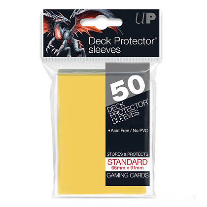 Yellow Standard Deck Protector Sleeves 50-Pack (Ultra Pro)