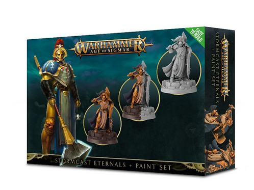 Warhammer Age of Sigmar: Stormcast Eternals Paint Set (60-10-60) (Easy To Build)