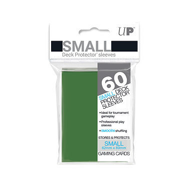 Green Small Deck Protector Sleeves 60-Pack (Ultra Pro)
