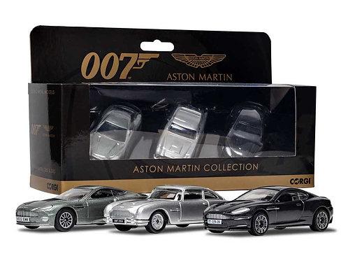 James Bond Aston Martin Collection (V12 Vanquish, DB5, DBS) Models by Corgi
