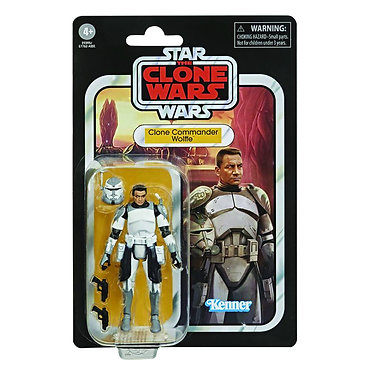 """Star Wars Vintage Collection: Clone Commander Wolffe 3.75"""" Action Figure"""