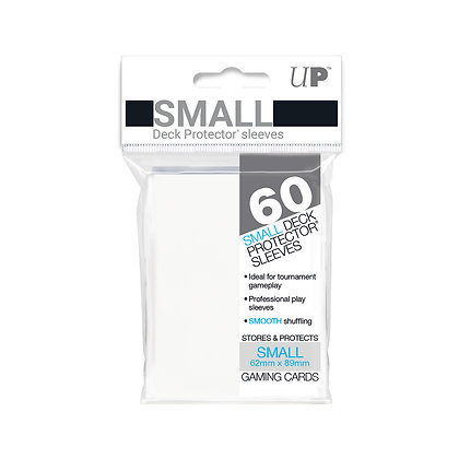 White Small Deck Protector Sleeves 60-Pack (Ultra Pro)