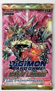 Digimon Card Game Great Legend Booster Pack (BT-04)